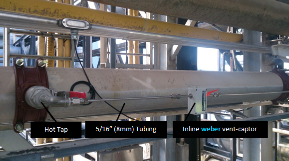 Installled weber vent-captor for compressed air monitoring